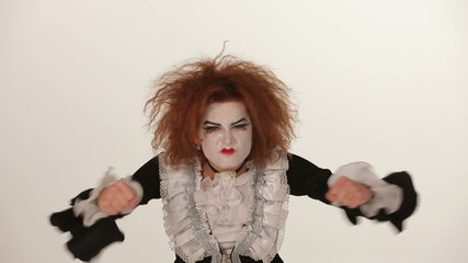 girl is angry mime