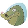 krokodil lustig schmetterling niedlich