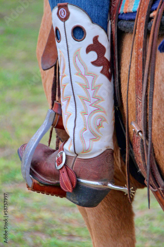 Cowgirl boot detail