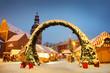 Leinwanddruck Bild - Christmas Riga
