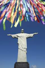 Rio Carnival Celebration at Statue of Corcovado