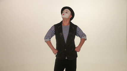 proud man mime