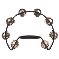 Black Tambourine isolated on white background