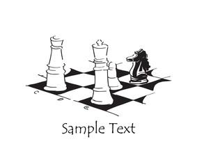 Black knight. Chess.