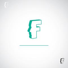 F letter sign