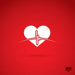 Heartbeat symbol
