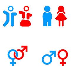 Mann und Frau Symbole - gender icons