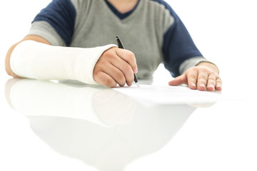 Signing insurance claim