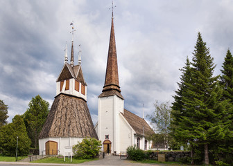 The historic church of Tornio in Finnish Lapland.