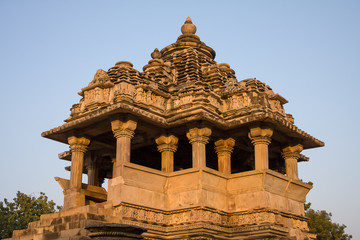 Hindu temple in Khajuraho, India