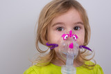 Kid using Nebulizer with Caution poster