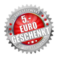 Bügel Button Kranz  5 Euro geschenkt rot