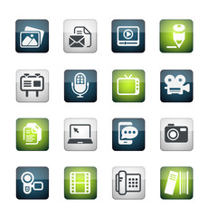 Multimedia and business Icon set