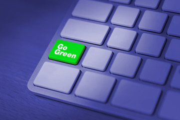 Going green campaign concept