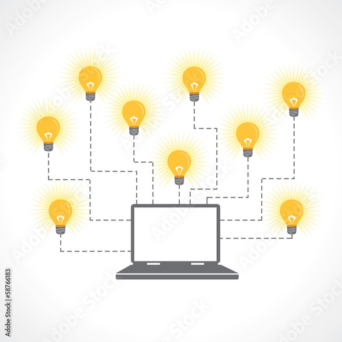 Innovative technology concept stock vector