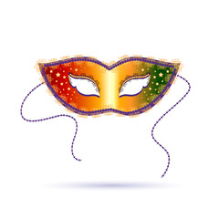 Venetian carnival template with mask