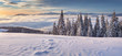 Beautiful winter panorama of the mountains