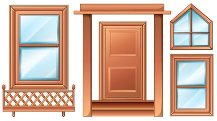 Different door designs