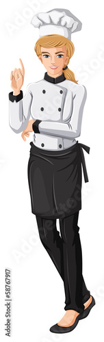 A female chef