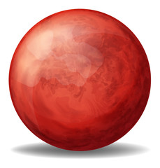 A red spherical ball