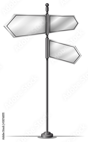 Steel arrow signboards