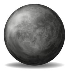 A gray round ball