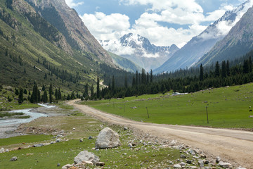 Barskoon Valley in Kirgizstan