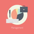 Management flat illustration concept