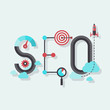 SEO word flat illustration