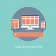 Web development illustration concept