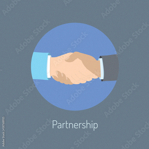 Partnership concept illustration