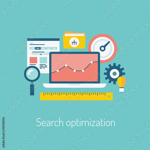 Search optimization illustration concept