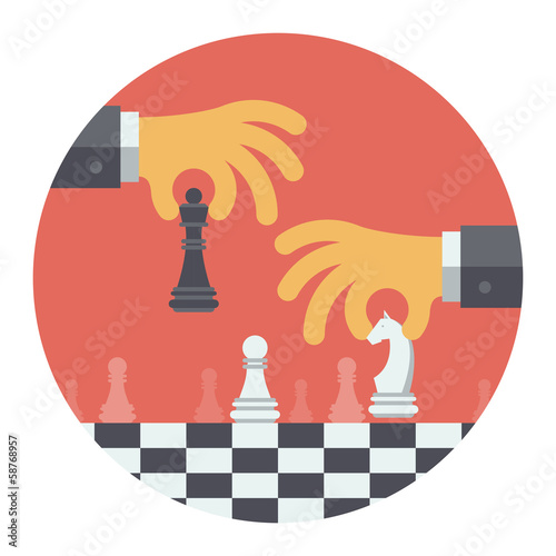 Strategy flat illustration concept