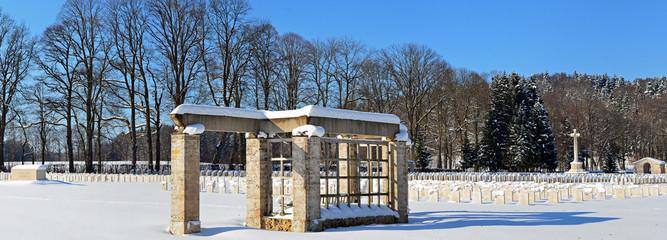 Gedenkstätte im Winter