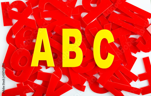 ABC letter closeup