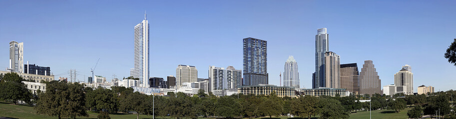 A Panorama View of the Skyline Austin in Texas