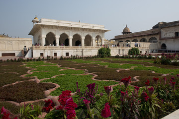 Courtyard at the Agra Fort