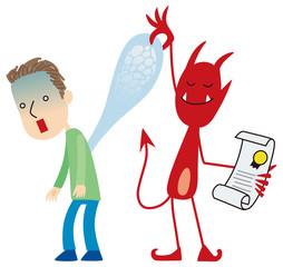 契約通り魂を抜く悪魔