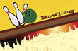 Abstract bowling banner