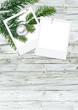 Weihnachtskarte, Platzhalter, Frohes Fest, grün, weiß