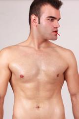 Nackte Brust eines Mannes