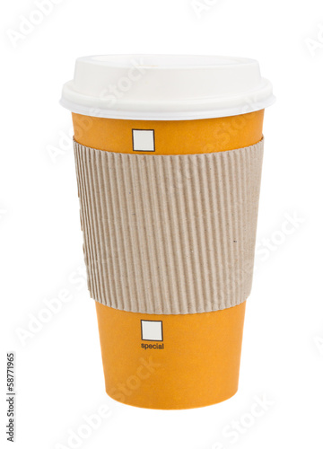 take away coffee in wrap