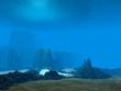 Leinwanddruck Bild - 3D Ocean floor