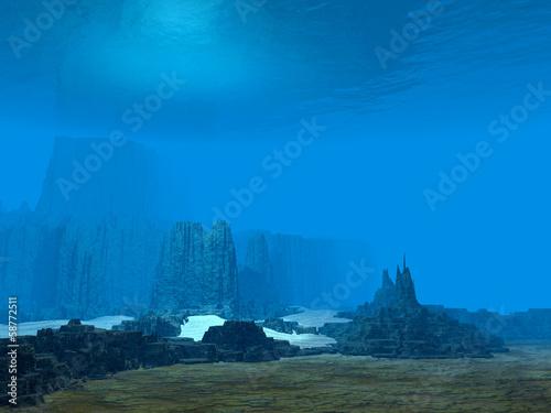 Leinwanddruck Bild 3D Ocean floor