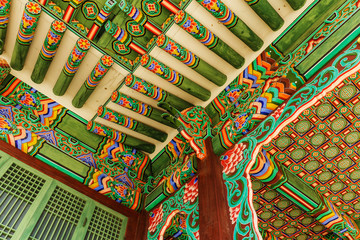 Korean painting traditional architecture