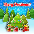 Happy New Year Card. Merry Christmas
