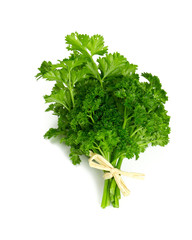tied fresh parsley