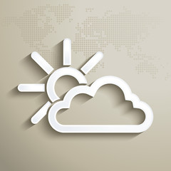 3D weathet forecast icon
