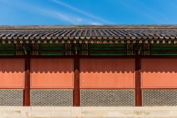 Exterior of traditional korean architecture