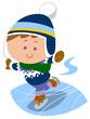 アイススケートを楽しむ子供